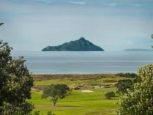 Waipu Golf Club, view to Taranga Island part of Hen and Chicken Islands